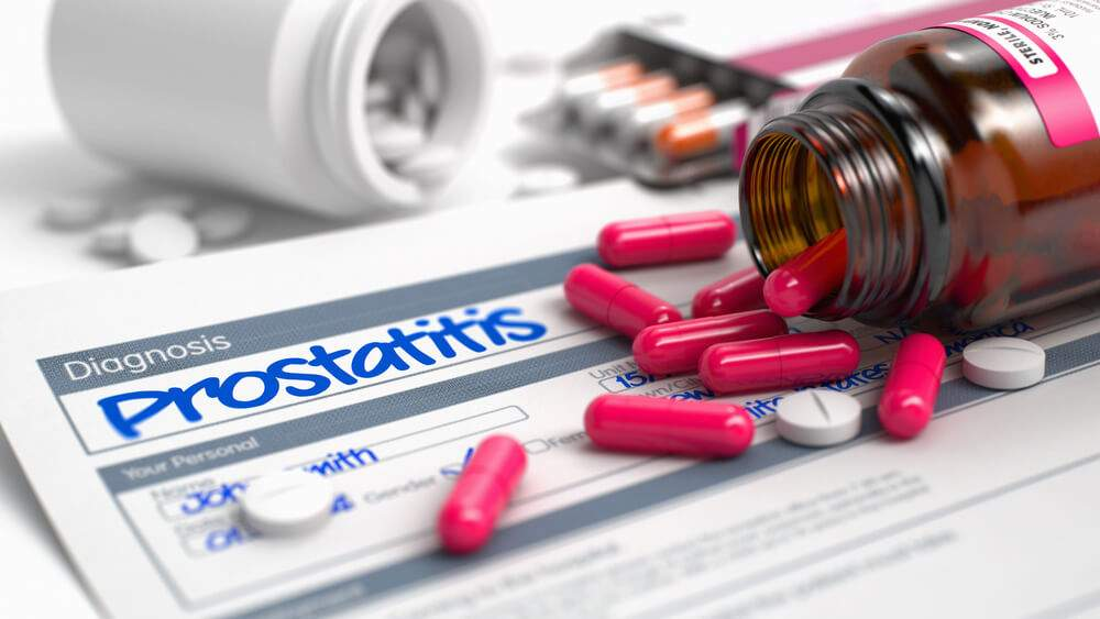 The prostatitis diagnosis in medical history and a heap of pills