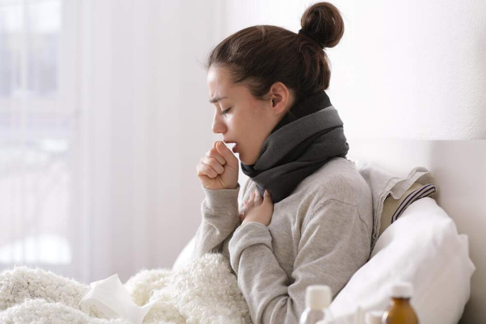 A woman went down with coughing and other severe symptoms of respiratory diseases